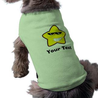 Conception d'étoile de bande dessinée tee-shirts pour animaux domestiques