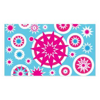 Conception d'étoiles de flocon de neige de roses i cartes de visite professionnelles