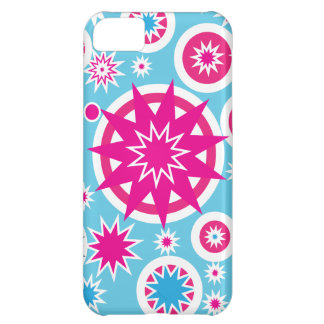 Conception d'étoiles de flocon de neige de roses i coque pour iPhone 5C