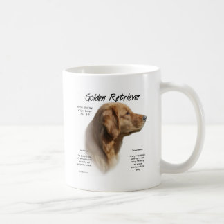 Conception d'histoire de golden retriever mugs