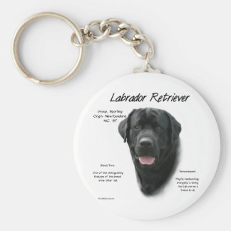 Conception d'histoire de labrador retriever (noir) porte-clef