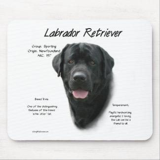 Conception d'histoire de labrador retriever (noir) tapis de souris