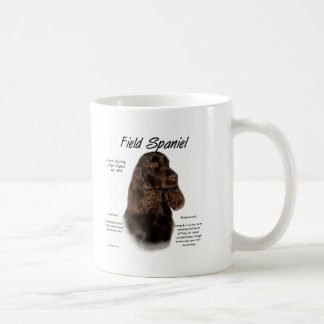 Conception d'histoire d'épagneul de champ tasse à café
