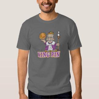 conception d'humour de bowling de goupille de roi tshirts