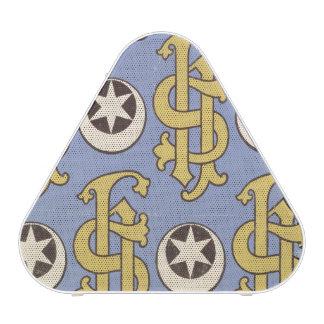 Conception ecclésiastique de papier peint d'étoile haut-parleur bluetooth
