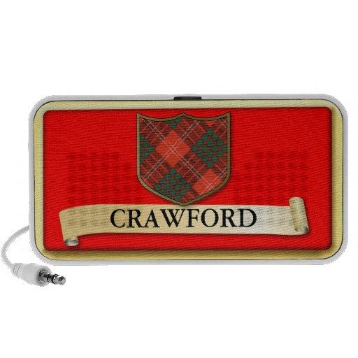 Conception écossaise de tartan - Crawford personna Haut-parleur iPhone