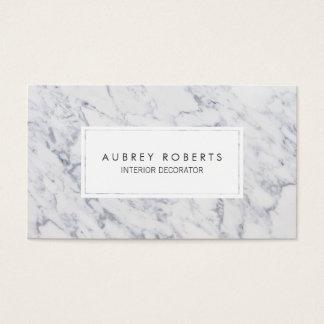 Conception élégante moderne de motif de marbre cartes de visite