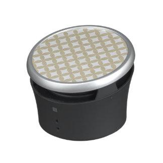 Conception en bronze et blanche de Geocircle Haut-parleur Bluetooth