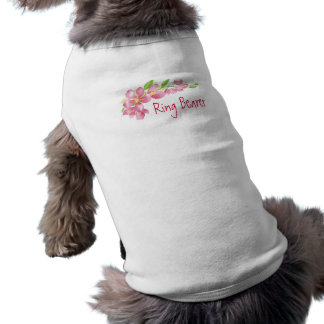 Conception florale de fleurs de cerisier de tee-shirts pour animaux domestiques