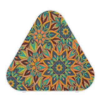 Conception florale de motif d'abrégé sur mandala haut-parleur bluetooth