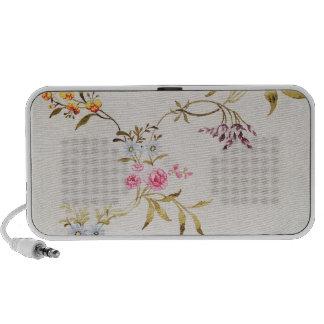 Conception florale des oeillets et des roses pour  haut-parleur portable