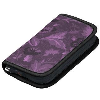 Conception florale violette mignonne d'arrière - p organiseur