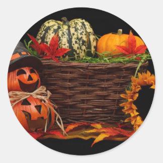 Conception foncée de Halloween Adhésifs Ronds