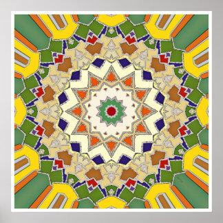 Conception géométrique abstraite d'étoile poster