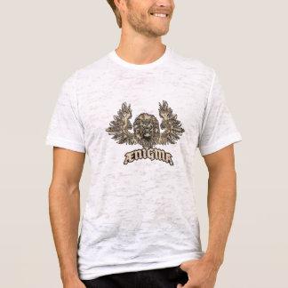 Conception graphique héraldique de Ænigma de lion T-shirt