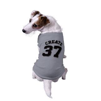 Conception grise et noire du Jersey de sports de Tee-shirt Pour Chien