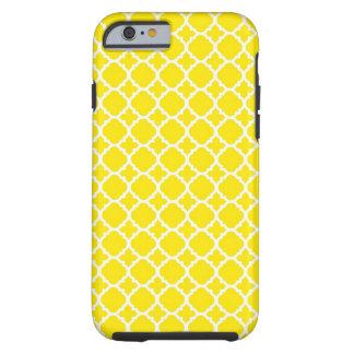 Conception jaune de treillis coque iPhone 6 tough