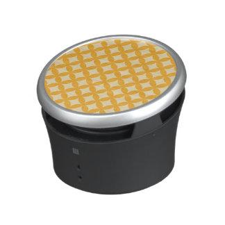 Conception jaune et orange de Geocircle Haut-parleur Bluetooth