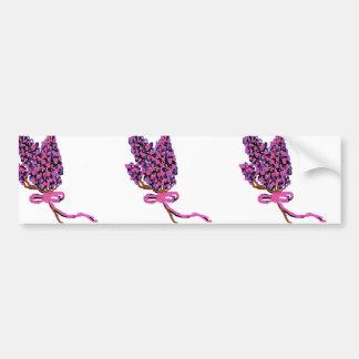 Conception lilas de fleur en fleurs d'été autocollant de voiture