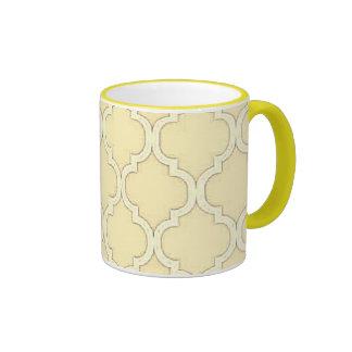 Conception marocaine jaune citron vintage de tasse