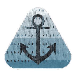 Conception nautique de motif d ancre bleue haut-parleur bluetooth