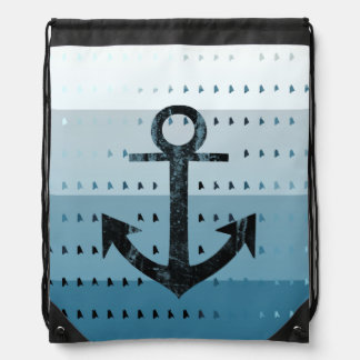 Conception nautique de motif d'ancre bleue masculi sac à dos