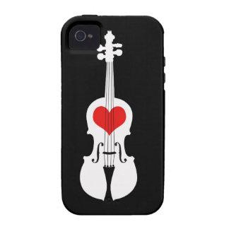 Conception noire de violon avec le cas de téléphon étui iPhone 4