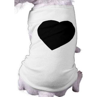 Conception noire et blanche de coeur d'amour manteaux pour toutous