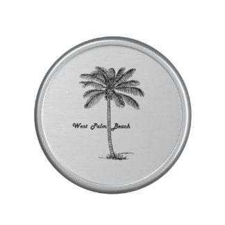 Conception noire et blanche de West Palm Beach et Haut-parleur Bluetooth