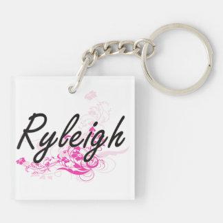Conception nommée artistique de Ryleigh avec des Porte-clé Carré En Acrylique Double Face