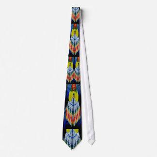 Conception perlée de plume cravate