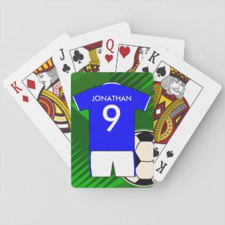 Conception personnalisée du Jersey du football du  Cartes À Jouer