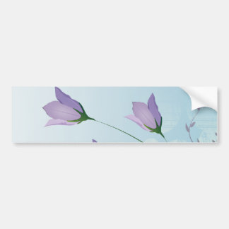 conception pourpre de tulipes de lavande élégante autocollant de voiture
