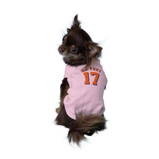 Conception rose et d'orange des animaux familiers t-shirts pour animaux domestiques