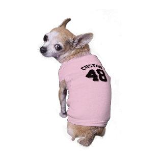 Conception rose et noire du Jersey de sports de T-shirt Pour Toutou