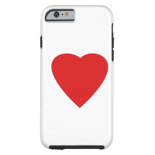 Conception rouge et blanche de coeur d'amour coque iPhone 6 tough