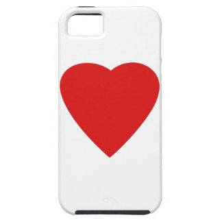 Conception rouge et blanche de coeur d'amour coques iPhone 5 Case-Mate