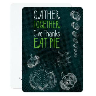 Conception rustique de thanksgiving avec des carton d'invitation  12,7 cm x 17,78 cm