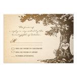 conception vintage de rsvp de mariage de vieil arb invitations personnalisées