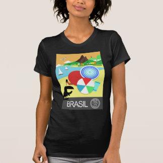 Conception vintage du Brésil rétro T-shirt
