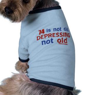 conceptions d anniversaire de 74 ans manteaux pour chien