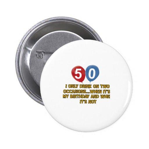 conceptions d'anniversaire de 50 ans badge