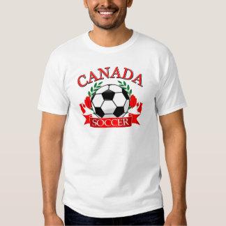 Conceptions de ballon de football du Canada Tshirt