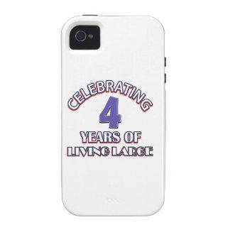 conceptions de cadeau de 4 ans coque iPhone 4 vibe