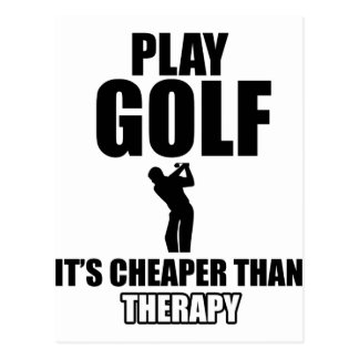 Conceptions de golf carte postale