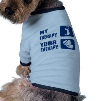 conceptions de thérapie de volleyball t-shirt ringer pour chien