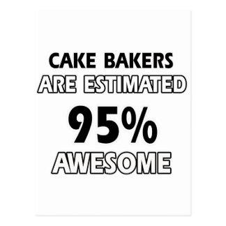 conceptions drôles de boulangers de gâteau carte postale