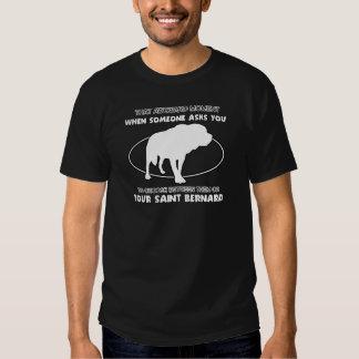 Conceptions drôles de St Bernard T Shirts