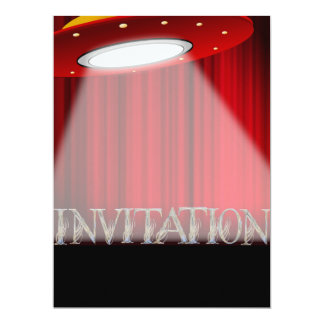 Conceptual Alien UFO Surprise Party Invitation