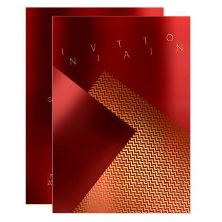 Conceptual Event Chaveron Metal Red Ruby Gold Card